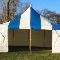 Blue and White Marquee - 5.5m x 5.5m