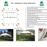 7.3m Peg & Pole Marquee - Self Install Instructions