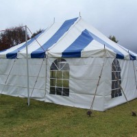 Blue and White Marquee - 5.5m x 7.3m