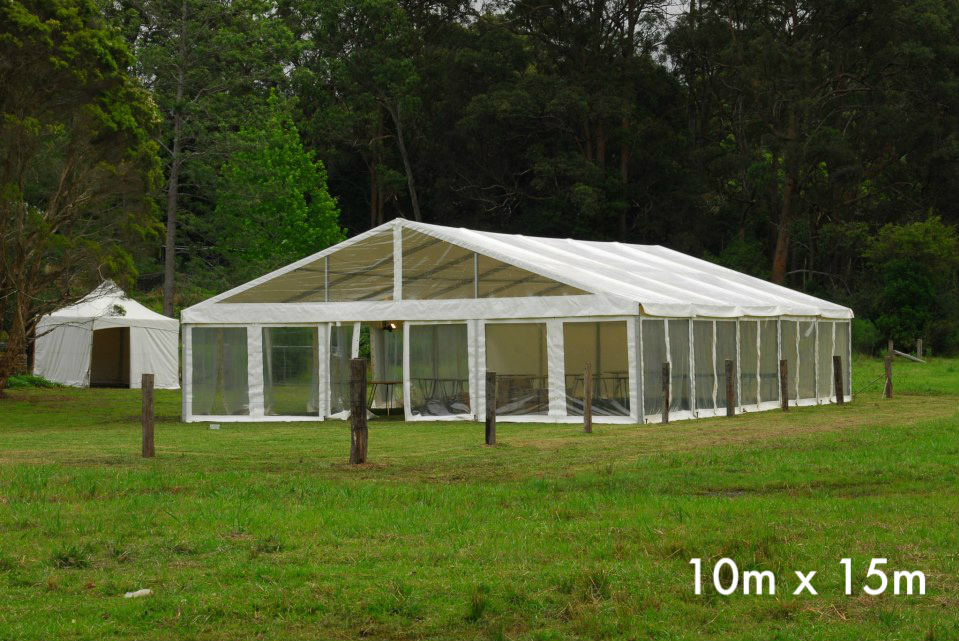 The clear tent is often used at events which require large unobstructed space such as weddings, reception, corporate events