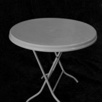 3' Round White Plastic Table