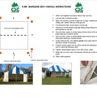 5.5m Peg & Pole Marquee - Self Install Instructions